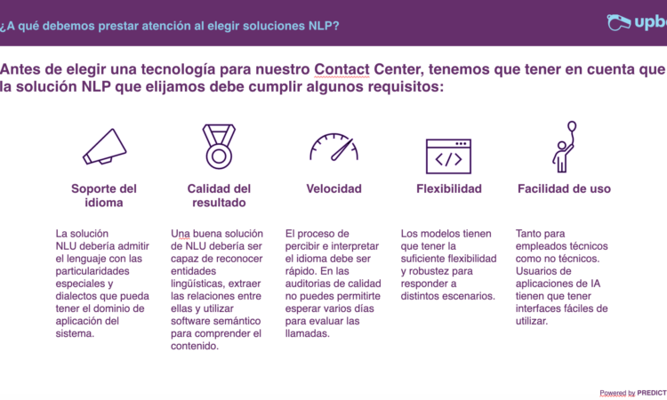 Procesamiento de lenguaje natural (NLP) Contact Center