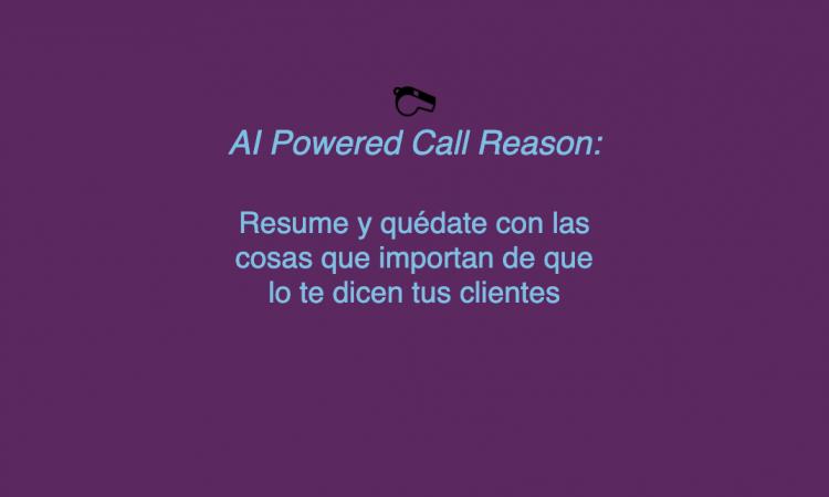 AI Powered Call Reason: identifica y resume lo importante de las llamadas con clientes